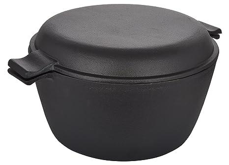 Crisol Cast Iron Pre-seasoned Dutch Oven 4.3 Lt. Pots & Pans at amazon