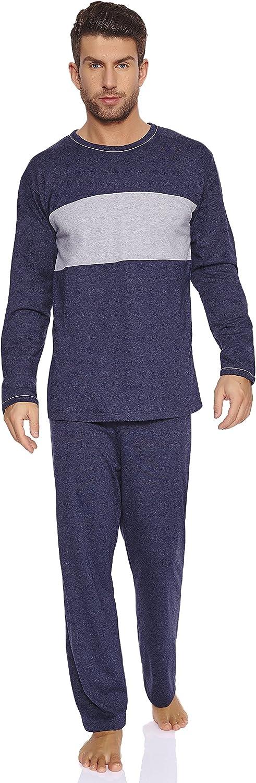 Timone Pijamas Conjunto Camisetas y Pantalones Ropa de Cama Hombre 71ST31