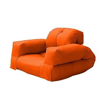 Perfect Fresh Futon Hippo Convertible Futon Chair/Bed Mattress, Orange