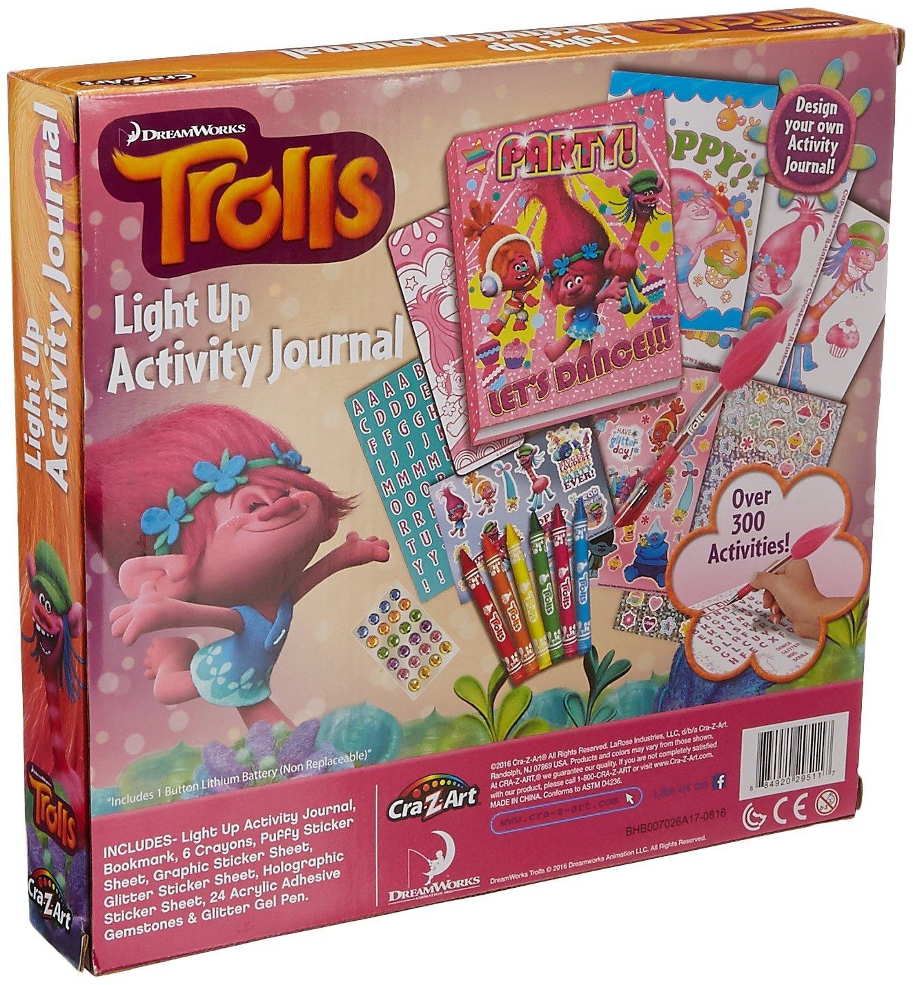 Cra-Z-Art Trolls Light Up Activity Sticker Book