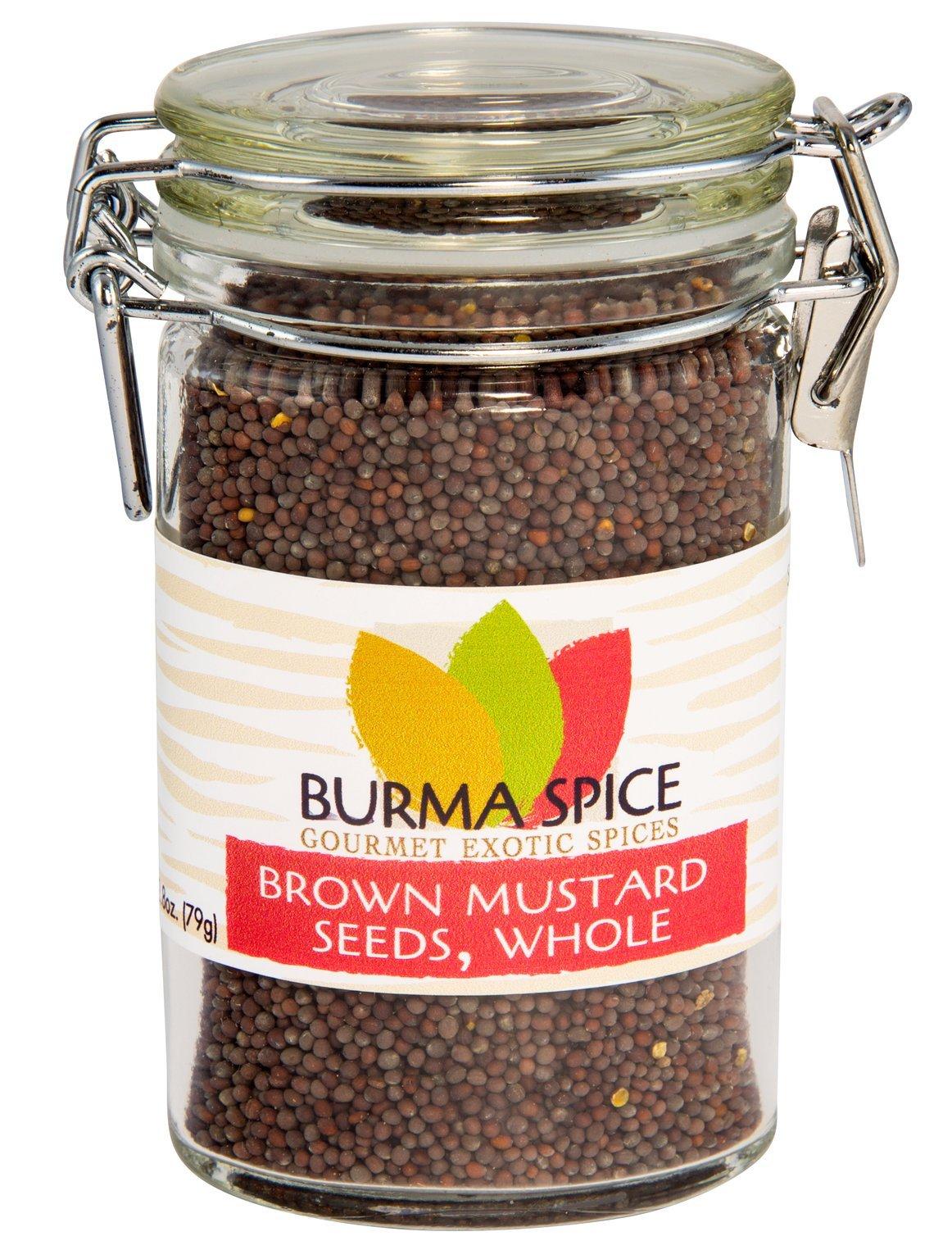 Brown Mustard Seed, Whole : Indian Mustard Kosher (2.8oz.)