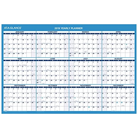At A Glance Calendar.At A Glance 2019 Wall Calendar 36 X 24 Large Erasable Dry Erase Reversible Horizontal Pm20028