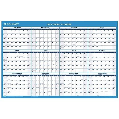 2019 Wall Calendar Amazon.: AT A GLANCE 2019 Wall Calendar, 36