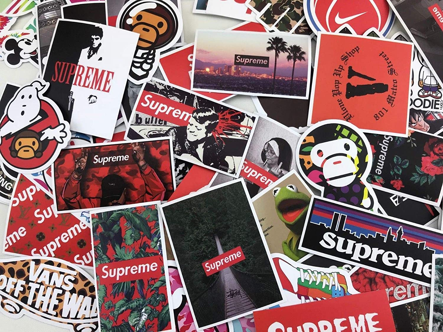 Amazon com sticker pack 100 pcs mrx planet custom supreme hypebeast streetwear stickers decals vinyls for laptop kids teens cars motorcycle