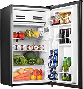 Compact Refrigerator 3.2 Cu.Ft (91L) Mini Fridge with Small Freezer Drinks Food Beer Storage for Bedroom Office or Dorm, Energy Star Rating with Adjustable Temperature, Removable Shelves,Fast Deliver