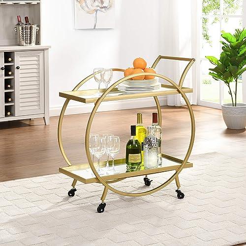 FirsTime & Co. Gold Odessa Bar Cart