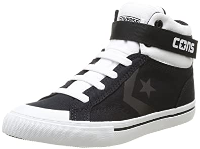 da82a905b3c3 Converse Pro Blaze Strap Stretch High Kids Shoe - Black 647715C (UK JNR 13)