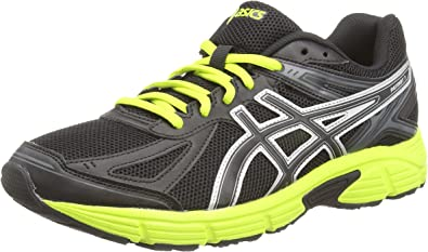 ASICS Patriot 7 - Zapatillas de running para hombre, color negro (black/lime/onyx 9005), talla 48: Amazon.es: Zapatos y complementos