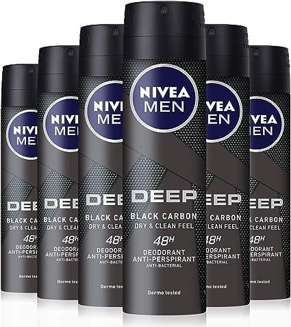 NIVEA MEN DEEP Dry & Clean Spray, desodorante de hombre con ...