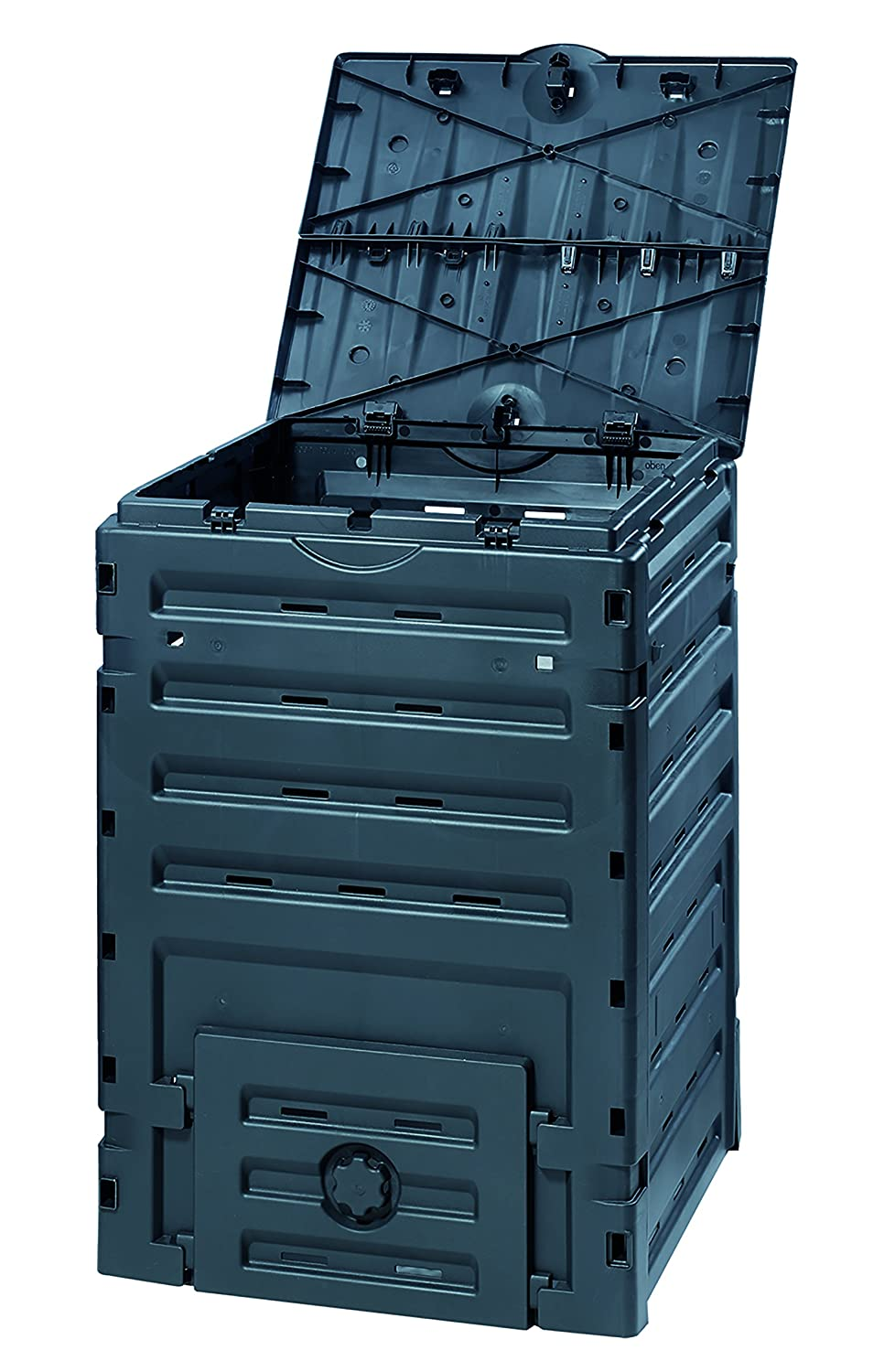 Exaco 628001 Eco-Master Polypropylene Composter, 120-Gallon, Black