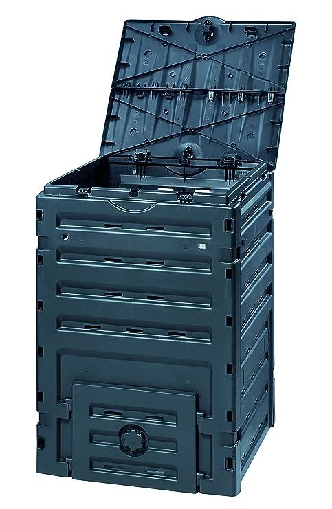 GRAF 628001 Eco Master   Bidone Per Compostaggio, 450 L, Colore: Nero