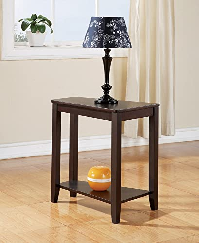 Steve Silver Joel Chairside End Table in Cherry Finish