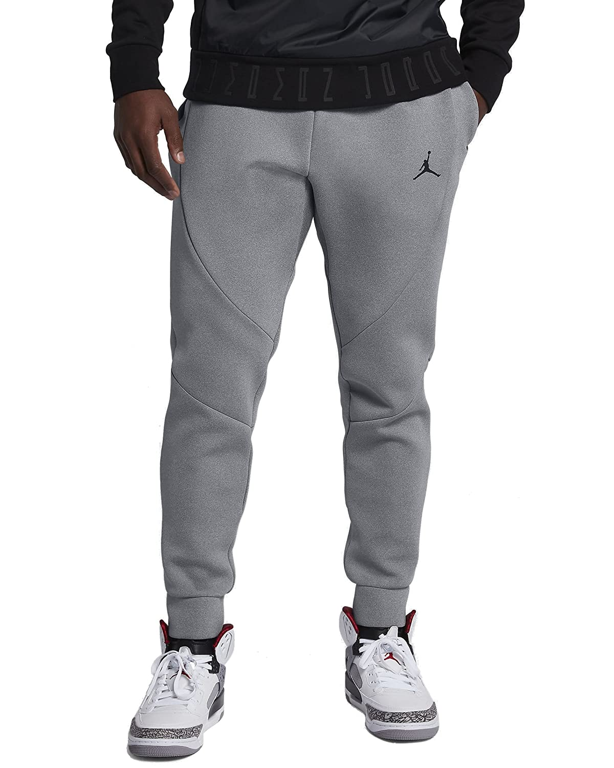 0c85e07a8377 Air Jordan JSW Flight Tech Pants 879499-121 Whiteblack Size 3XL  NIKE  Jordan Flight Tech Fleece Pants Mens at Amazon Mens Clothing store ...