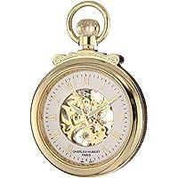 Charles-Hubert, Paris 3903-G Classic Collection reloj de bolsillo mecánico de cara abierta chapado en oro