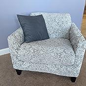 Amazon.com: Funda de sofá de 2 piezas de Jacquard Damasco ...
