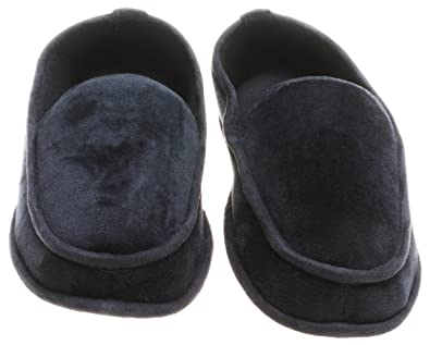 3fe8096265b8 Image Unavailable. Image not available for. Color  Dearfoams Men s Indoor  Outdoor Velvet Memory Foam Slippers ...