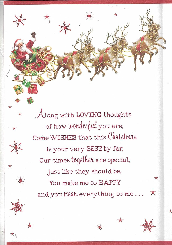 Prelude Husband Christmas Card To My Wonderful Husband At