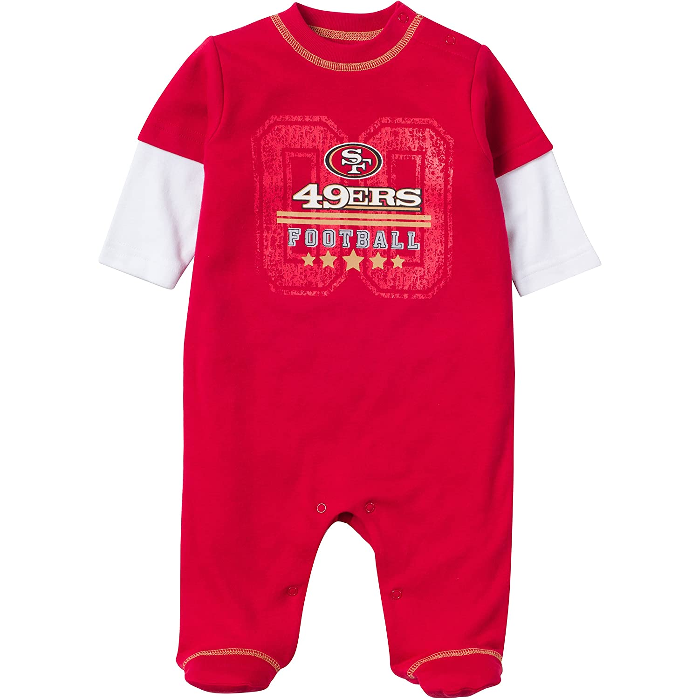 Amazon NFL San Francisco 49ers Sleep N Play Bodysuit 6 9