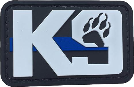 Parche K9 para huellas de perro, de PVC, de goma, táctico, de policía, para hacer cumplir