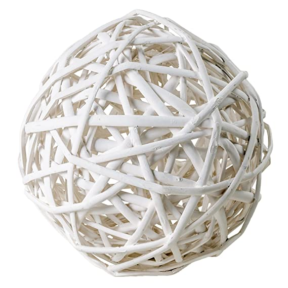 Dekokugeln !!! Weidenkugeln weiß gefärbt 10cm//15cm//20cm