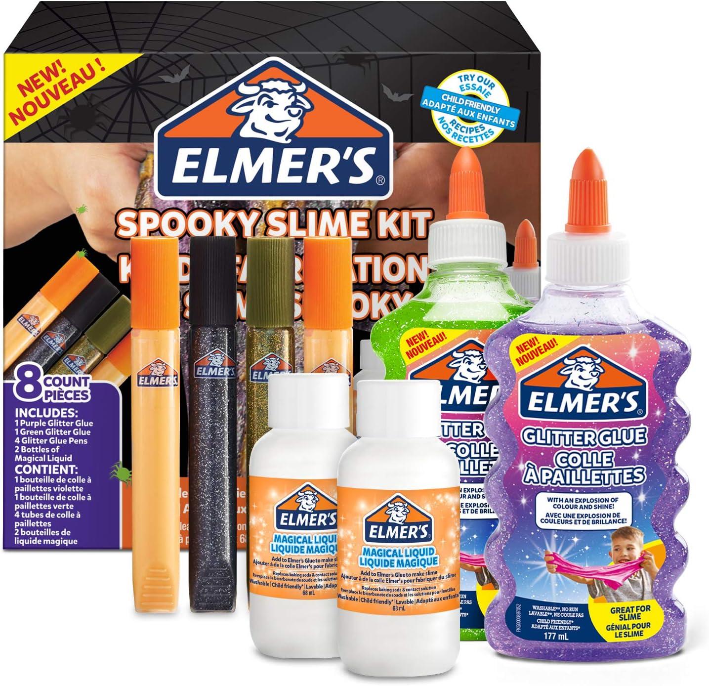 Elmers Kit Slime Espeluznante con pegamento espeluznante, cola ...