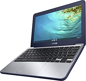 "ASUS Chromebook C202XA Rugged & Spill Resistant Laptop, 11.6"" HD, 180 Degree, MediaTek 8173C Processor, 4GB RAM, 16GB Storage, MIL-STD 810G Durability, Blue, Education, Chrome OS, C202XA-YH02-BL"