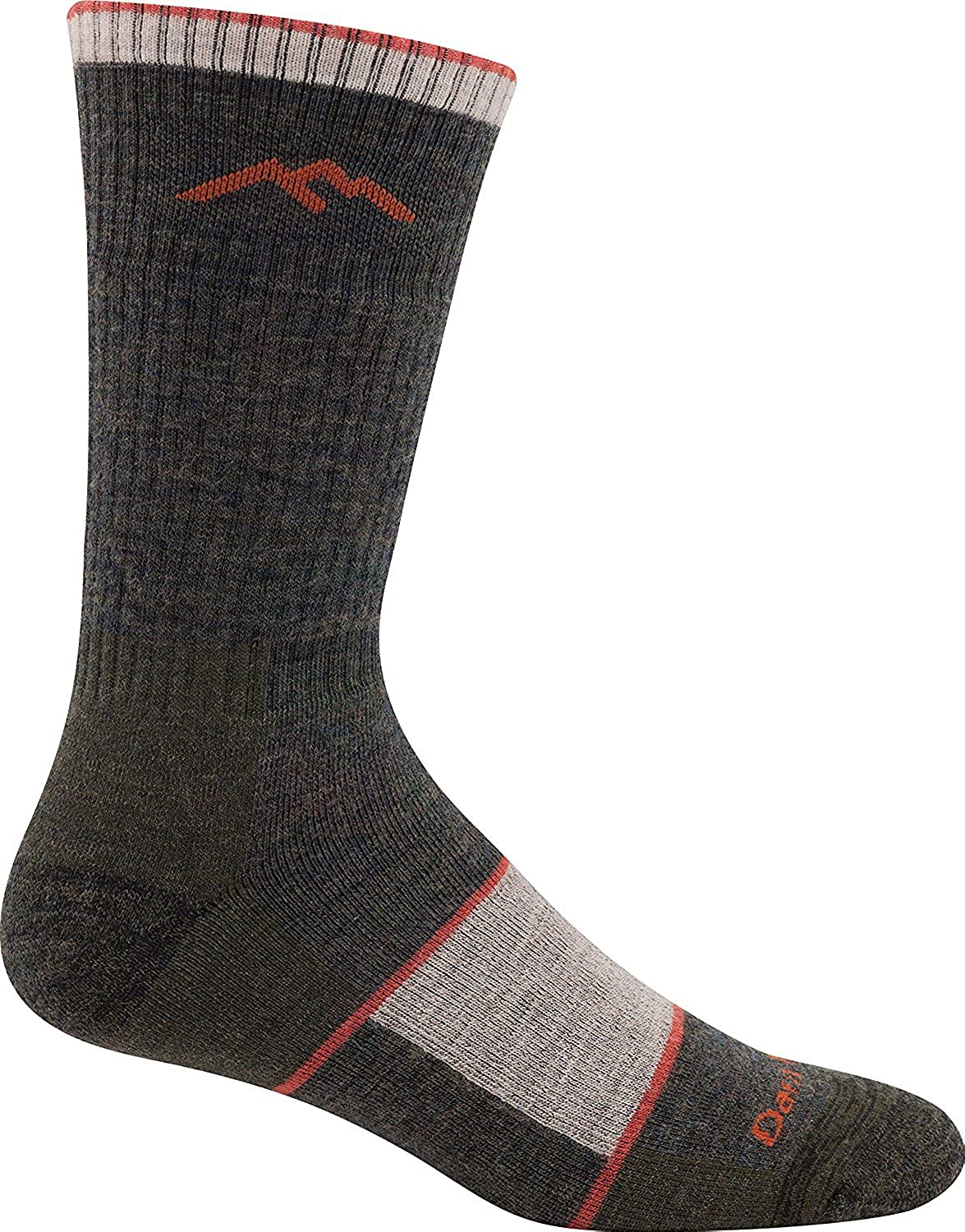 Darn Tough Men's Wool Mountaineering Extra Cushion Socks, Olive Medium, 6 Pack