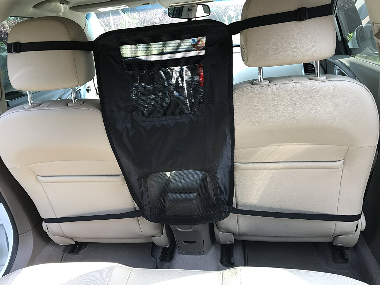 EXPAWLORER Frontseat Net Pet Barriers for Vehicles, Travel Accessories, Lightweight, Durable & Multifunctional