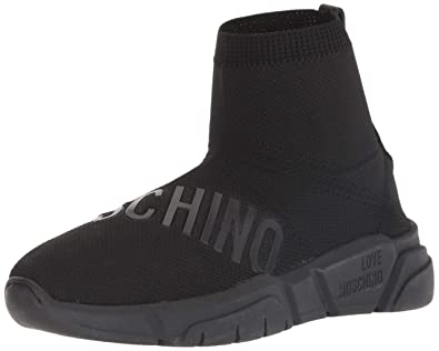 00da7749789 Love Moschino Women's SCA.nod.run35 Calzino Str. Hi-Top Trainers ...