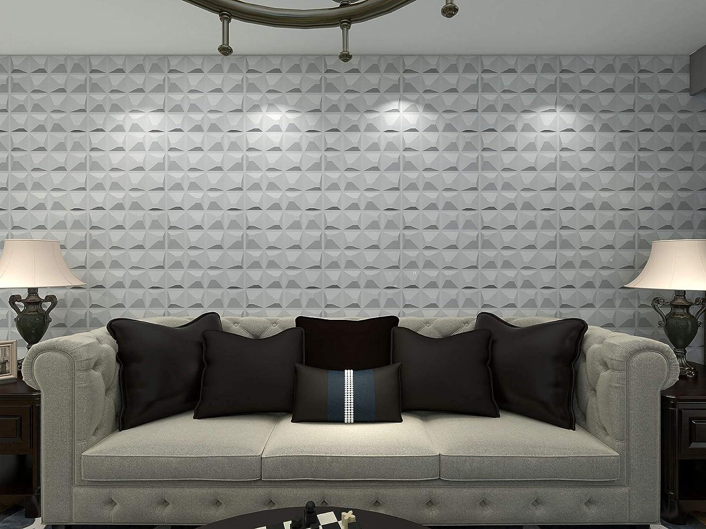 32 SF Art3d 3D Wall Panels Home Decor TV Background Board,12tiles