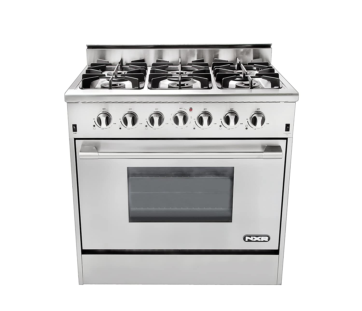 Amazon.com: NXR DRGB3602 Professional Style Gas Range, 36 ...