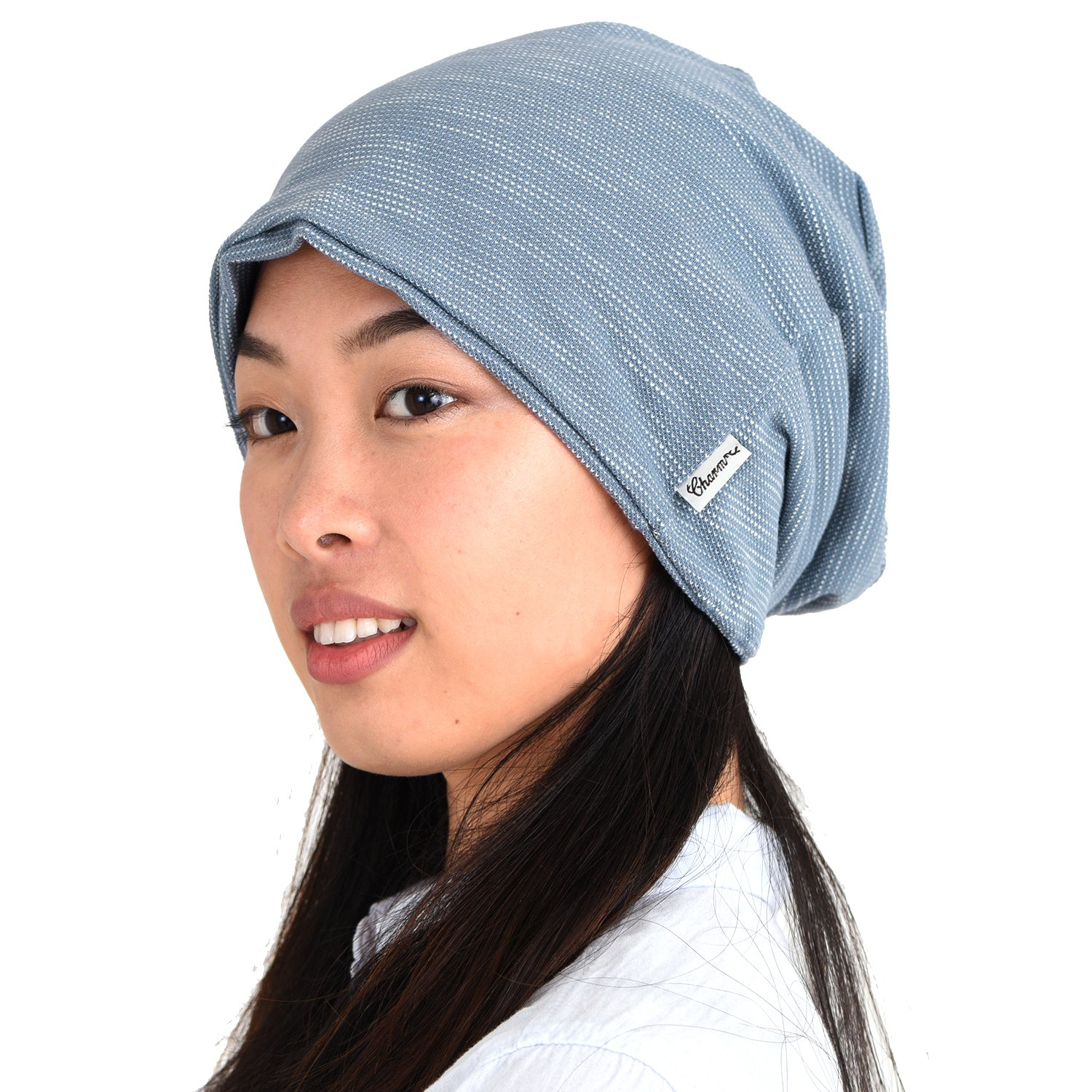 6984f561812448 Amazon.com: CHARM Womens Slouchy Summer Beanie - Mens Slouch Beanie Big  Summer Oversized Hat Baggy Hipster Hats Blue: Clothing