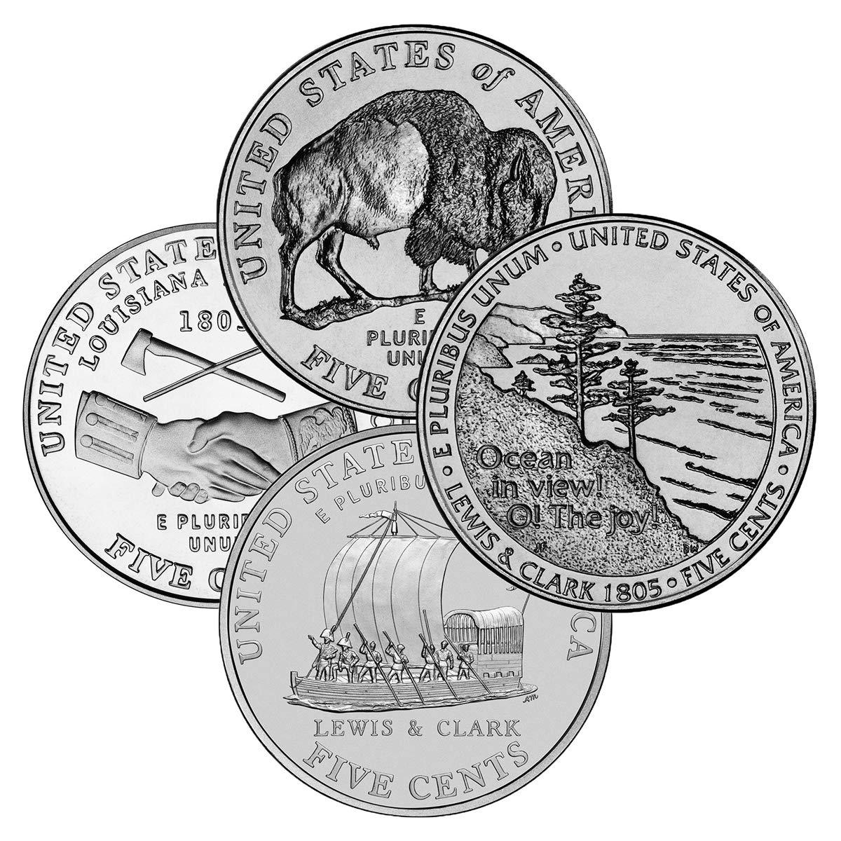 4-DENVER BRILLIANT UNCIRCULATED 2009 LINCOLN CENT 8-COIN SET 4-PHILADELPHIA