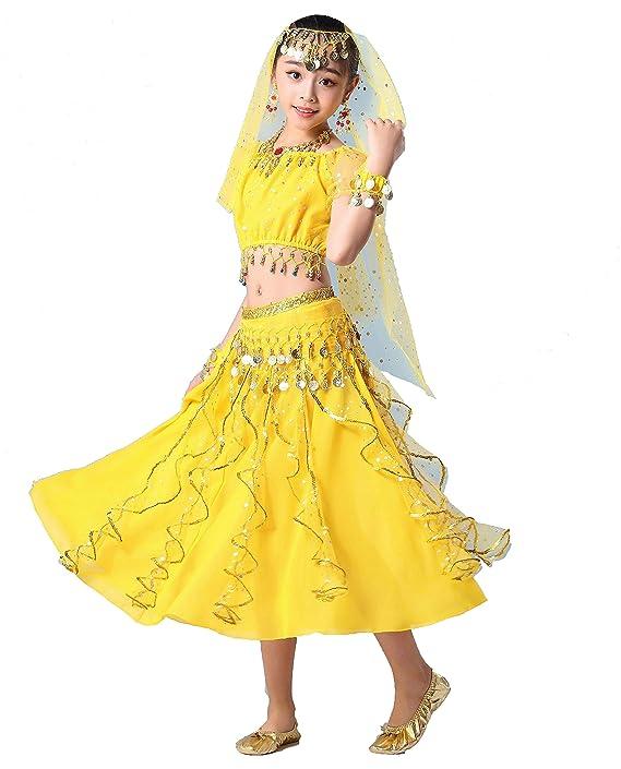 Maguun Traje de Danza del Vientre para niñas Vestido de ...