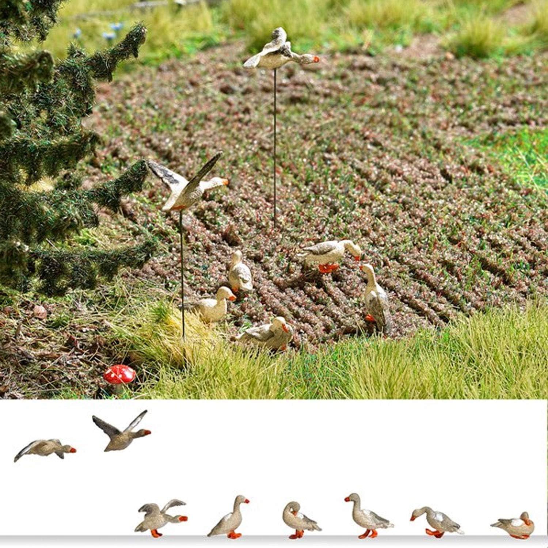 Busch 1196 Wild Geese 8//HO Scale Scenery Kit