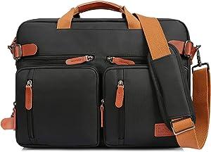 LOKASS Laptop Backpack Convertile Briefcase Shoulder Bag Backpack Multi-Functional Messenger Bag Handbag Fits 15.6 Inches Laptop for Men/Women/Work (Black)