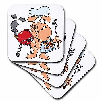 Dooni diseños al azar Toons – Funny Pig para barbacoa barbacoa Piggy Pig – Set de