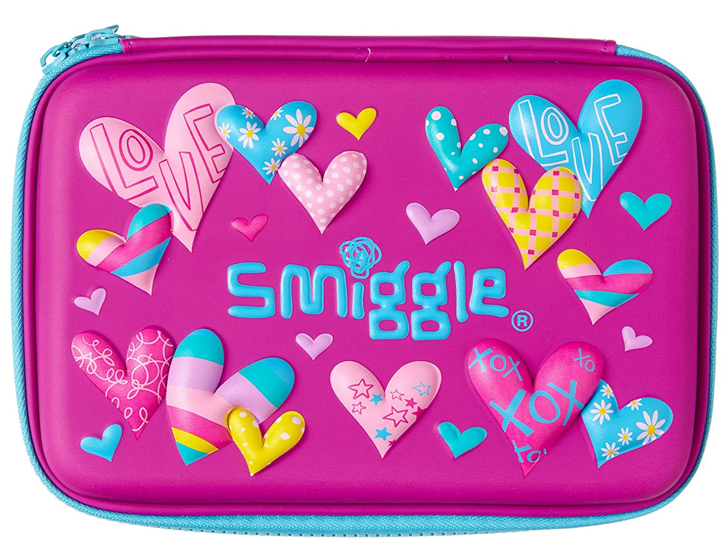 watch 3a7bd 04976 Smiggle Pencil Case Scented Hardtop - Kooky Purple Love Hearts ...