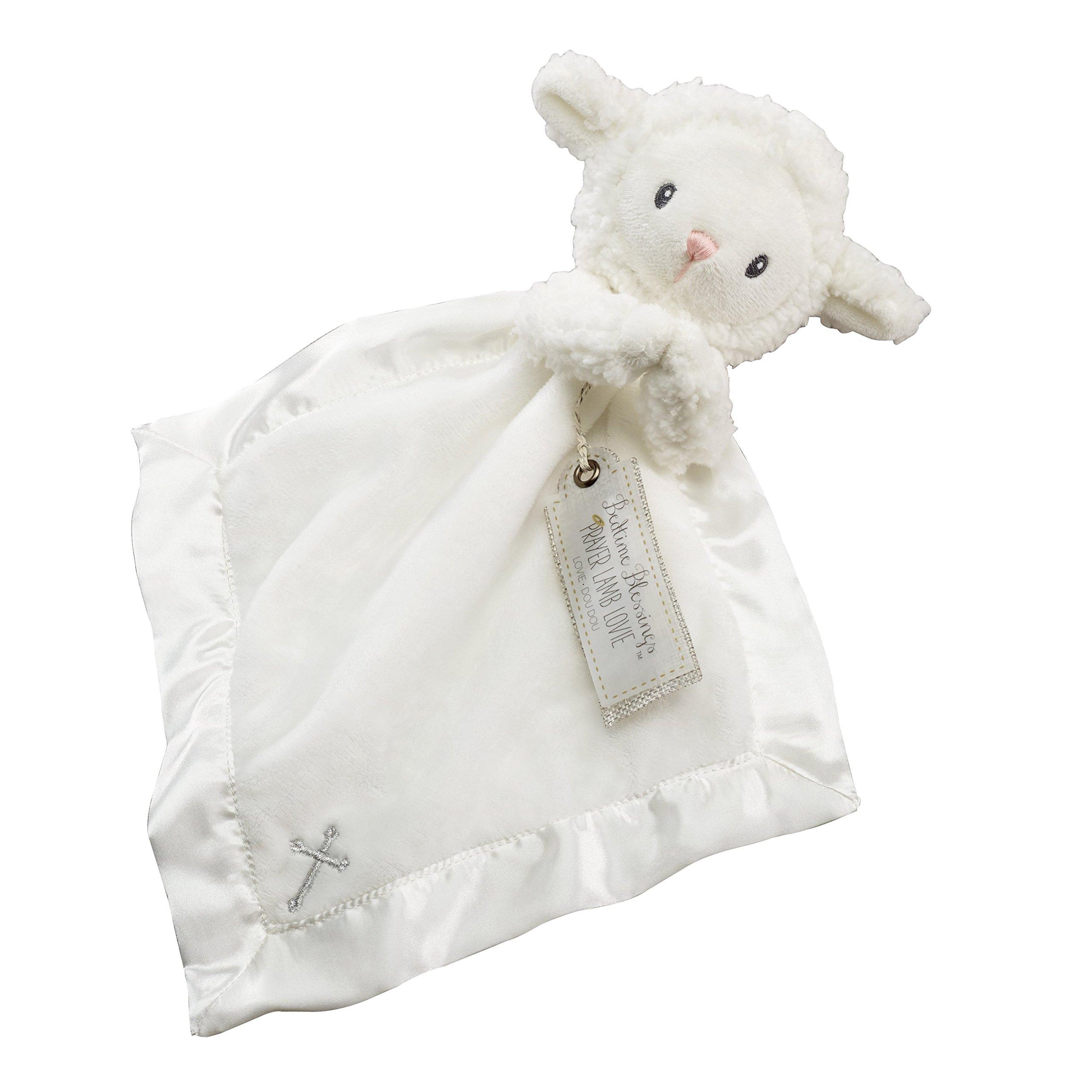 Baby Aspen Bedtime Blessings Lamb Lovie Blanket, Rattle, Newborn Baby Toy, White by Baby Aspen