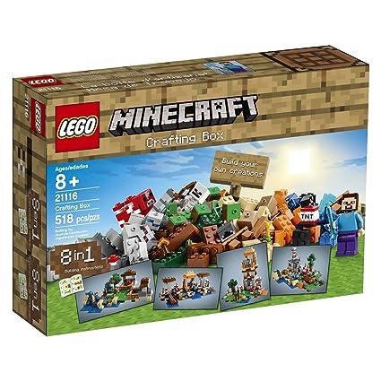 Amazon Building Block Lego Minecraft 8 In 1 Crafting Box