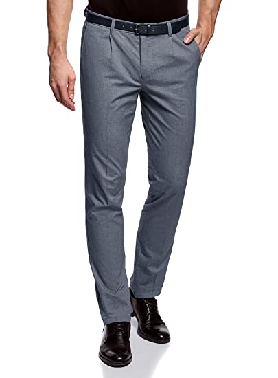 Coton FR Ultra Léger en Gris 38 oodji S Homme Pantalon wpfqnfUX