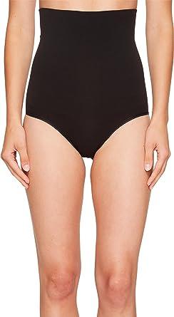 Yummie Black Seamless Shapewear Waist Shaping Brief Panty NEW