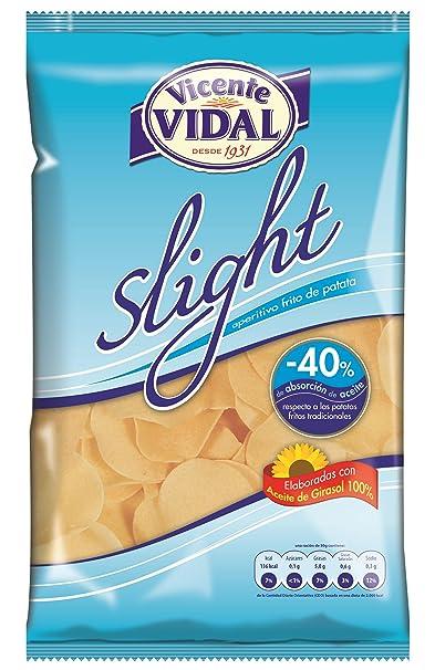 VICENTE VIDAL patatas fritas light bolsa 125GR: Amazon.es ...