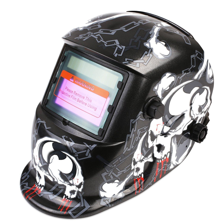 FIXKIT Careta de Soldar Automatica con Gran Campo Visual, Mascara de Soldar Automatica para MIG / MAG / TIG / Esmerilado / Soldadura por Arco / Corte por Plasma, Certificación CE/RoHS
