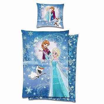 Kinder Bettwäsche Die Eiskönigin Frozen Lights Hellblau 135 X 200 Cm