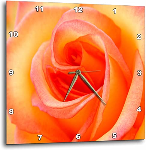 3dRose LLC Peach Rose Wall Clock, 10 by 10-Inch