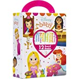Disney Baby Princess - My First Library Board Book Block 12 Book Set - PI Kids
