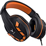 Kikc PS4 Gaming Headset with Mic for Xbox One, Nintendo Switch, Mobile Phone, iPad, PC and Notebook, Controllable Volume…