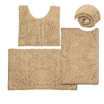 Vagau 3 Pieces Bathroom Rug