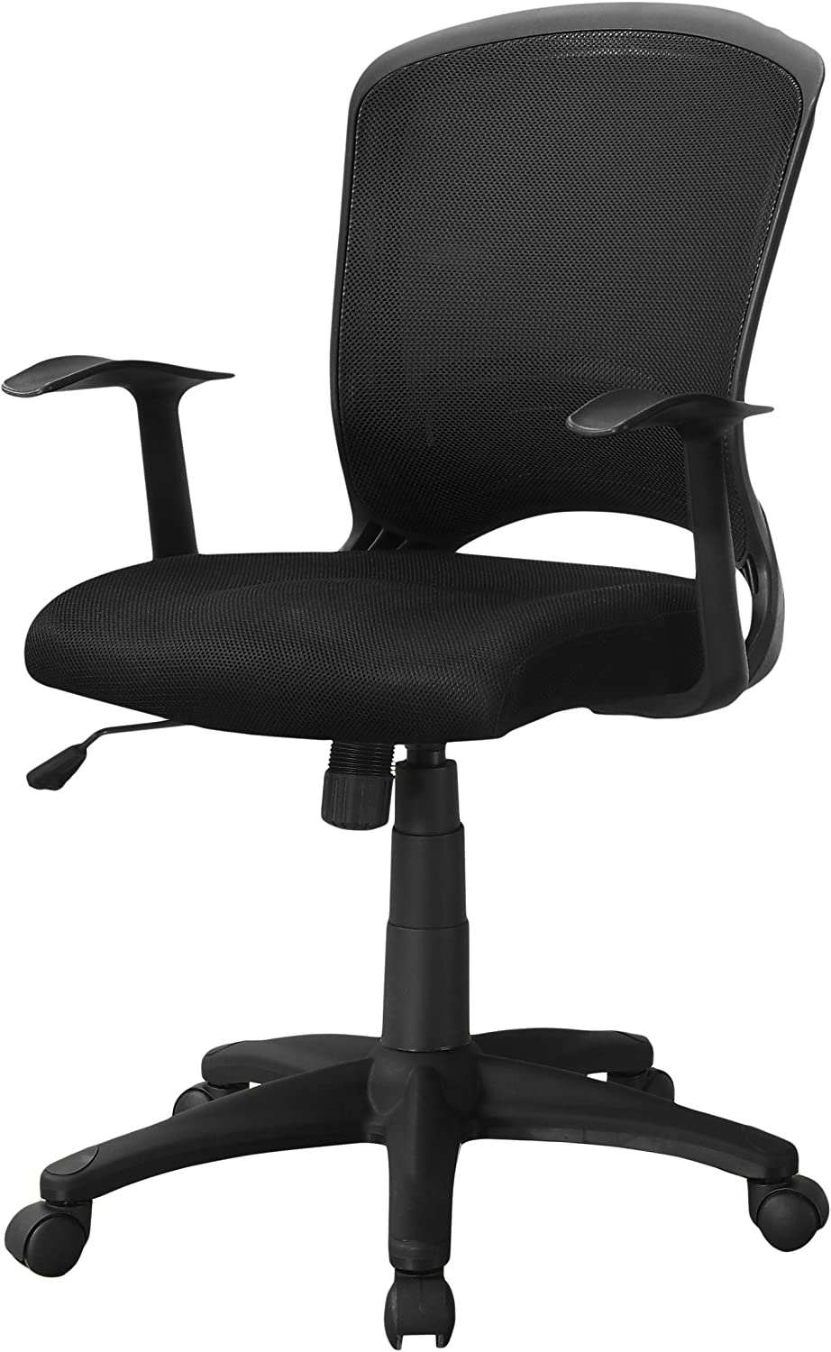 Monarch Specialties Mesh Mid-Back/Multi-Position Office Chair, Black